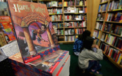 """SAN FRANCISCO - DECEMBER 21:  Copies of Harry Potter books stand on display at the Clean Well-Lighted Place For Books December 21, 2004 in San Francisco, California. Harry Potter author J.K. Rowling announced Tuesday that she has completed the sixth Potter novel, """"Harry Potter and the Half-Blood Prince"""" and it will be published on July 16, 2005.  (Photo by Justin Sullivan/Getty Images)"""