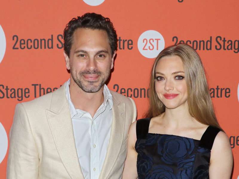 """NEW YORK, NY - MAY 19:  Actors Thomas Sadoski and Amanda Seyfried attend """"The Way We Get By"""" opening night after party at Four at Yotel on May 19, 2015 in New York City.  (Photo by Jim Spellman/WireImage)"""