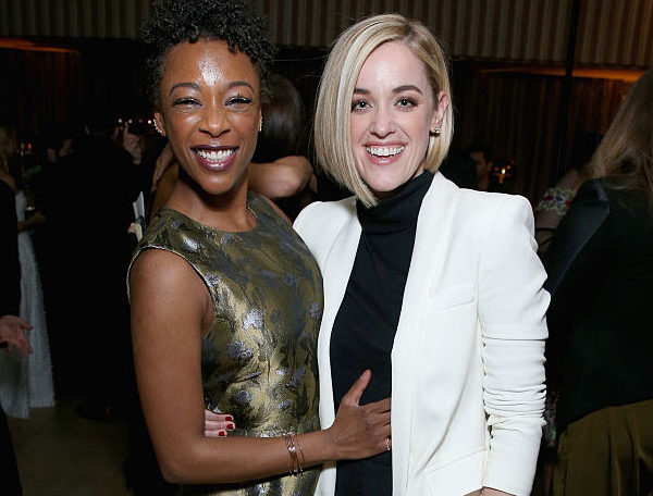 WEST HOLLYWOOD, CA - JANUARY 29: Actress Samira Wiley (L) and writer Lauren Morelli attend The Weinstein Company & Netflix's 2017 SAG After Party in partnership with Absolut Elyx at Sunset Tower Hotel on January 29, 2017 in West Hollywood, California. (Photo by Phillip Faraone/Getty Images for The Weinstein Company/Netflix)