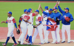 ZAPOPAN, MEXICO - MARCH 12: Players of Puerto Rico celebrate after winning during the World Baseball Classic Pool D Game 5 between Italy and Puerto Rico at Panamericano Stadium on March 12, 2017 in Zapopan, Mexico. (Photo by Miguel Tovar/Getty Images)
