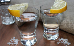 tequila with salt and lemon