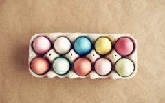 Picture of full painted egg box