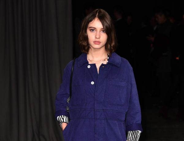 LONDON, ENGLAND - FEBRUARY 20:  Iris Law wearing Burberry attends the Burberry February 2017 Show during London Fashion Week February 2017 at Makers House on February 20, 2017 in London, England.  (Photo by Ian Gavan/Getty Images for Burberry)