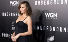 "WESTWOOD, CA - FEBRUARY 28:  Model Chrissy Teigen attends WGN America's ""Underground"" Season Two Premiere Screening at Regency Village Theatre on March 1, 2017 in Westwood, California.  (Photo by Rachel Murray/Getty Images for WGN America)"
