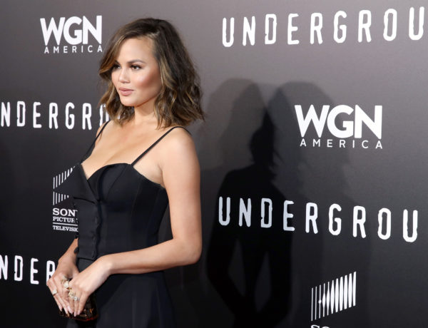 """WESTWOOD, CA - FEBRUARY 28:  Model Chrissy Teigen attends WGN America's """"Underground"""" Season Two Premiere Screening at Regency Village Theatre on March 1, 2017 in Westwood, California.  (Photo by Rachel Murray/Getty Images for WGN America)"""