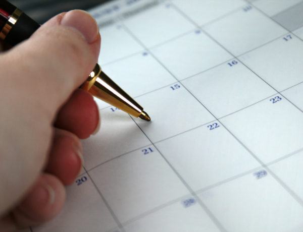 Appointment Book: Person Writing Marking the Date